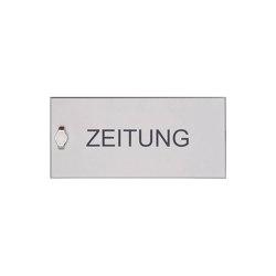 Basic | Zeitungsfach geschlossen BASIC 382AZF aus Edelstahl V2A, geschliffen 355x165x100 100mm Tiefe | Mailboxes | Briefkasten Manufaktur