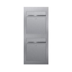Designer | 2er 2x1 Edelstahl Briefkastenanlage DESIGNER Style BIG Einputz- bzw. Unterputzvariante 100mm | Mailboxes | Briefkasten Manufaktur