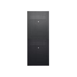 Designer | 2er 2x1 Edelstahl Briefkastenanlage DESIGNER Style BIG pulverbeschichtet Einputz- bzw. Unterputzvariante 100mm | Mailboxes | Briefkasten Manufaktur