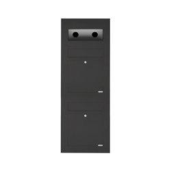 Designer | 2er Edelstahl Briefkasten Designer BIG - RAL nach Wahl - GIRA System 106 - 3-fach vorbereitet Einputz- bzw. Unterputzvariante 100mm RAL 7016 anthrazitgrau feinstruktur matt | Mailboxes | Briefkasten Manufaktur