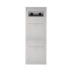 Designer | 2er Edelstahl Briefkasten Designer Modell BIG - GIRA System 106 - 3-fach vorbereitet Einputz- bzw. Unterputzvariante 100mm | Mailboxes | Briefkasten Manufaktur