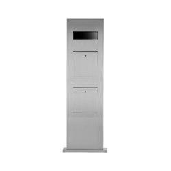 Designer | 2er Edelstahl Briefkastensäule Designer Modell BIG - GIRA System 106 - 3-fach vorbereitet | Mailboxes | Briefkasten Manufaktur