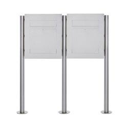 Designer | 2er Edelstahl Standbriefkasten DESIGNER Style BIG ST-R | Mailboxes | Briefkasten Manufaktur