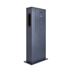 Designer | Briefkasten Ladesäule Designer BIG - Innogy eBox vorbereitet - RAL nach Wahl - INDIVIDUELL Rechts | Mailboxes | Briefkasten Manufaktur