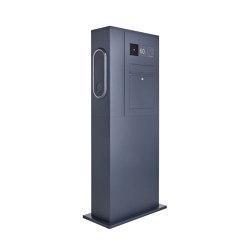 Designer | Briefkasten Ladesäule Designer BIG mit Innogy eBox smart - RAL - GIRA System 106 - VIDEO Komplettset Rechts RAL 7016 anthrazitgrau feinstruktur matt | Mailboxes | Briefkasten Manufaktur