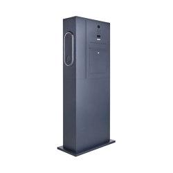 Designer | Briefkasten Ladesäule Designer BIG mit Innogy eBox smart - RAL Farbe - DoorBird Video- Sprechanlage Rechts | Mailboxes | Briefkasten Manufaktur