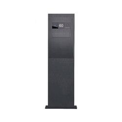 Designer | Briefkastensäule Designer BIG - RAL Farbe - Entnahme hinten - GIRA System 106 - VIDEO Komplettset | Mailboxes | Briefkasten Manufaktur