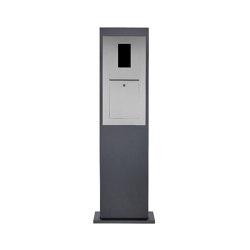 Designer | Briefkastensäule Designer Modell - Edelstahl-RAL 7016 - GIRA System 106 - 2-fach vorbereitet | Mailboxes | Briefkasten Manufaktur