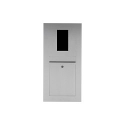 Designer | Edelstahl Briefkasten Designer - GIRA System 106 - 2-fach vorbereitet Einputz- bzw. Unterputzvariante 100mm | Mailboxes | Briefkasten Manufaktur