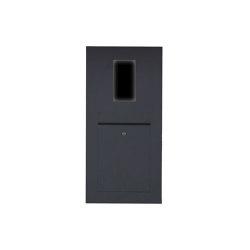 Designer | Edelstahl Briefkasten Designer - RAL nach Wahl - GIRA System 106 - 2-fach vorbereitet Einputz- bzw. Unterputzvariante 100mm RAL 7016 anthrazitgrau feinstruktur matt | Mailboxes | Briefkasten Manufaktur