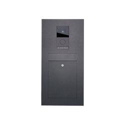 Designer | Edelstahl Briefkasten Designer - RAL nach Wahl - GIRA System 106 - VIDEO Komplettset Einputz- bzw. Unterputzvariante 100mm RAL 7016 anthrazitgrau feinstruktur matt | Mailboxes | Briefkasten Manufaktur