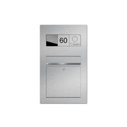 Designer | Edelstahl Briefkasten Designer BIG - GIRA System 106 - Video- Sprechanlage - VIDEO Komplettset Einputz- bzw. Unterputzvariante 100mm | Mailboxes | Briefkasten Manufaktur