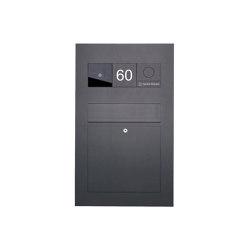 Designer | Edelstahl Briefkasten Designer BIG - RAL nach Wahl - GIRA System 106 - VIDEO Komplettset Einputz- bzw. Unterputzvariante 100mm RAL 7016 anthrazitgrau feinstruktur matt | Mailboxes | Briefkasten Manufaktur