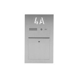 Designer | Edelstahl Briefkasten Designer BIG mit Hausnummer, hinterbeleuchtet - INDIVIDUELL Einputz- bzw. Unterputzvariante 100mm | Mailboxes | Briefkasten Manufaktur