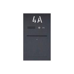 Designer | Edelstahl Briefkasten Designer BIG mit Hausnummer, hinterbeleuchtet - RAL nach Wahl - INDIVIDUELL Einputz- bzw. Unterputzvariante 100mm | Mailboxes | Briefkasten Manufaktur
