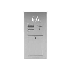 Designer | Edelstahl Briefkasten Designer mit Hausnummer, hinterbeleuchtet - INDIVIDUELL Einputz- bzw. Unterputzvariante 100mm | Mailboxes | Briefkasten Manufaktur