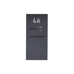 Designer | Edelstahl Briefkasten Designer mit Hausnummer, hinterbeleuchtet - RAL nach Wahl - INDIVIDUELL Einputz- bzw. Unterputzvariante 100mm | Mailboxes | Briefkasten Manufaktur