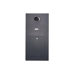 Designer | Edelstahl Briefkasten Designer Modell - RAL nach Wahl - Comelit VIDEO Komplettset Wifi Einputz- bzw. Unterputzvariante 100mm | Mailboxes | Briefkasten Manufaktur