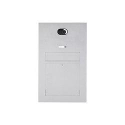 Designer | Edelstahl Briefkasten Designer Modell BIG - Comelit VIDEO Komplettset Wifi Einputz- bzw. Unterputzvariante 100mm | Mailboxes | Briefkasten Manufaktur