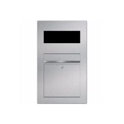 Designer | Edelstahl Briefkasten Designer Modell BIG - GIRA System 106 - 3-fach vorbereitet Einputz- bzw. Unterputzvariante 100mm | Mailboxes | Briefkasten Manufaktur