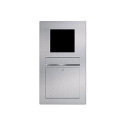 Designer | Edelstahl Briefkasten Designer Modell BIG - GIRA System 106 - 4-fach vorbereitet Einputz- bzw. Unterputzvariante 100mm | Mailboxes | Briefkasten Manufaktur