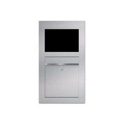 Designer | Edelstahl Briefkasten Designer Modell BIG - GIRA System 106 - 6-fach vorbereitet Einputz- bzw. Unterputzvariante 100mm | Mailboxes | Briefkasten Manufaktur