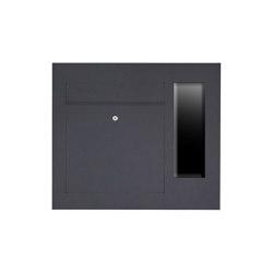 Designer | Edelstahl Briefkasten Designer Modell BIG - GIRA System 106 seitlich - 3-fach vorbereitet -RAL Farbe Einputz- bzw. Unterputzvariante 100mm Rechts | Mailboxes | Briefkasten Manufaktur