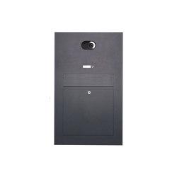 Designer | Edelstahl Briefkasten Designer Modell BIG - RAL nach Wahl - Comelit VIDEO Komplettset Wifi Einputz- bzw. Unterputzvariante 100mm | Mailboxes | Briefkasten Manufaktur
