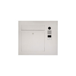 Designer | Edelstahl Briefkasten Designer Modell BIG - Seitlich mit DoorBird Video- Sprechanlage Einputz- bzw. Unterputzvariante 100mm Rechts | Mailboxes | Briefkasten Manufaktur