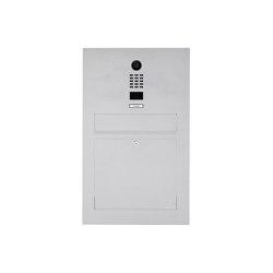 Designer | Edelstahl Briefkasten Designer Modell BIG mit DoorBird Video- Sprechanlage Einputz- bzw. Unterputzvariante 100mm | Mailboxes | Briefkasten Manufaktur