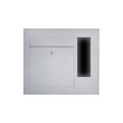 Designer | Edelstahl Briefkasten Designer Modell BIG mit GIRA System 106 seitlich - 3-fach vorbereitet Einputz- bzw. Unterputzvariante 100mm Rechts | Mailboxes | Briefkasten Manufaktur