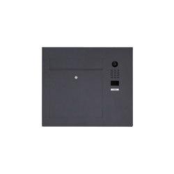 Designer | Edelstahl Briefkasten Designer Modell BIG seitlich mit DoorBird Video- Sprechanlage RAL Farbe Einputz- bzw. Unterputzvariante 100mm Rechts | Mailboxes | Briefkasten Manufaktur