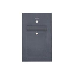 Designer | Edelstahl Briefkasten Designer Modell SMALL - Clean Edition - RAL nach Wahl - INDIVIDUELL Einputz- bzw. Unterputzvariante 100mm | Mailboxes | Briefkasten Manufaktur