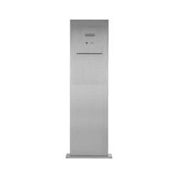 Designer | Edelstahl Briefkastensäule Designer BIG - Stele Tower - Entnahme hinten - INDIVIDUELL | Mailboxes | Briefkasten Manufaktur