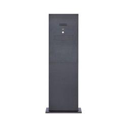 Designer | Edelstahl Briefkastensäule Designer BIG Stele Tower - Entnahme hinten - RAL nach Wahl - INDIVIDUELL | Mailboxes | Briefkasten Manufaktur