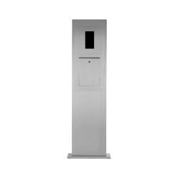 Designer | Edelstahl Briefkastensäule Designer Modell - GIRA System 106 - 2-fach vorbereitet | Mailboxes | Briefkasten Manufaktur