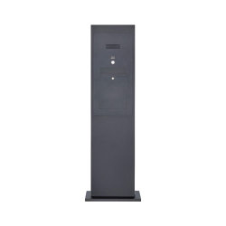 Designer | Edelstahl Briefkastensäule Designer Modell - Stele Tower - RAL nach Wahl - INDIVIDUELL | Mailboxes | Briefkasten Manufaktur