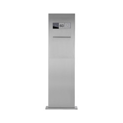Designer | Edelstahl Briefkastensäule Designer Modell BIG - Entnahme hinten - Comelit VIDEO Komplettset Wifi | Mailboxes | Briefkasten Manufaktur
