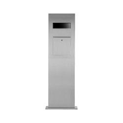 Designer | Edelstahl Briefkastensäule Designer Modell BIG - GIRA System 106 - 3-fach vorbereitet | Mailboxes | Briefkasten Manufaktur