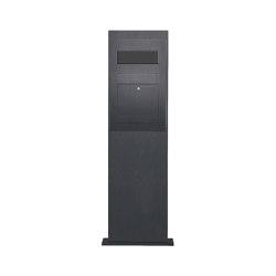 Designer | Edelstahl Briefkastensäule Designer Modell BIG - RAL nach Wahl - GIRA System 106 3-fach vorbereitet RAL 7016 anthrazitgrau feinstruktur matt | Mailboxes | Briefkasten Manufaktur