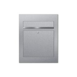 Designer | Edelstahl Design Briefkasten DESIGNER Style BIG Einputz- bzw. Unterputzvariante 100mm | Mailboxes | Briefkasten Manufaktur