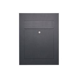 Designer | Edelstahl Design Briefkasten DESIGNER Style BIG pulverbeschichtet Einputz- bzw. Unterputzvariante 100mm RAL 7016 anthrazitgrau feinstruktur matt | Mailboxes | Briefkasten Manufaktur