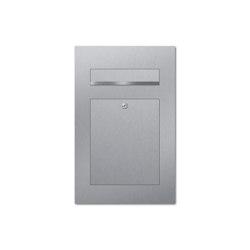 Designer | Edelstahl Design Briefkasten DESIGNER Style Einputz- bzw. Unterputzvariante 100mm | Mailboxes | Briefkasten Manufaktur