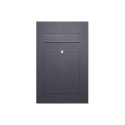 Designer | Edelstahl Design Briefkasten DESIGNER Style pulverbeschichtet Einputz- bzw. Unterputzvariante 100mm RAL 7016 anthrazitgrau feinstruktur matt | Mailboxes | Briefkasten Manufaktur