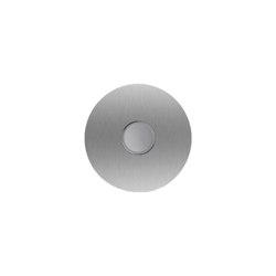 Designer | Edelstahl Klingelplatte Designer LED - RUND 100 | Door bells | Briefkasten Manufaktur