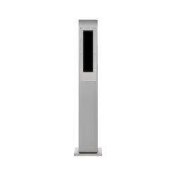 Designer | Edelstahl Klingelstele Designer - GIRA System 106 - 5-fach vorbereitet 160 cm | Door bells | Briefkasten Manufaktur
