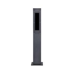 Designer | Edelstahl Klingelstele Designer - RAL nach Wahl - GIRA System 106 - 5-fach vorbereitet 160 cm | Door bells | Briefkasten Manufaktur