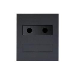 Designer | Edelstahl Mauerdurchwurf Briefkasten Designer - RAL nach Wahl - GIRA System 106 - 3-fach vorbereitet RAL 7016 anthrazitgrau feinstruktur matt | Mailboxes | Briefkasten Manufaktur