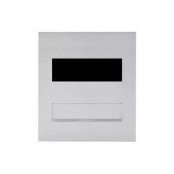 Designer | Edelstahl Mauerdurchwurf Briefkasten Designer Modell - GIRA System 106 - 3-fach vorbereitet | Mailboxes | Briefkasten Manufaktur