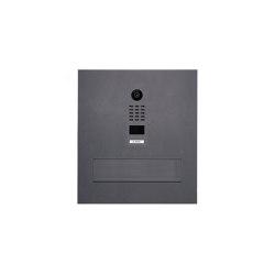 Designer | Edelstahl Mauerdurchwurfbriefkasten Designer BIG mit DoorBird Video- Sprechanlage - RAL Farbe | Mailboxes | Briefkasten Manufaktur